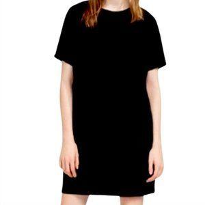 Zara Black T-Shirt Dress in Thick Material